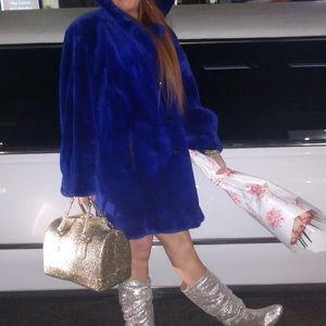 Indigo blue YSL mink coat - vintage